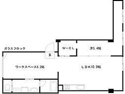 丸福ビル[3階]の間取り