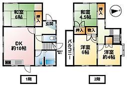 [一戸建] 千葉県八街市文違 の賃貸【/】の間取り