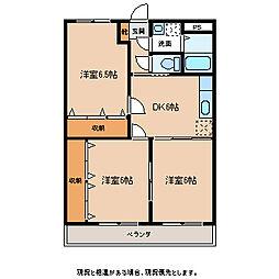 ワイズハウス[3階]の間取り