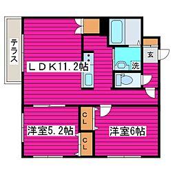 北海道札幌市東区北四十一条東6丁目の賃貸マンションの間取り