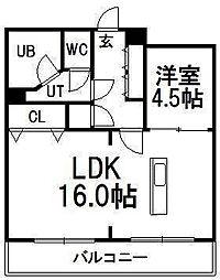 パシフィック札幌第一マンション[405号室]の間取り
