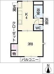 URBAN・TAMII[1階]の間取り