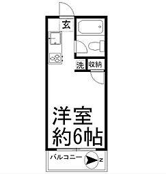 クリスタルハイツ湘南台[207号室]の間取り
