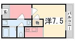 ラタンアパートメントII[211号室]の間取り