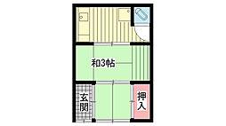 兵庫県神戸市兵庫区笠松通6丁目の賃貸アパートの間取り