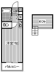 フローラFUJI[A101号室]の間取り