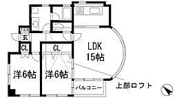 ランドマーク宝塚[3階]の間取り