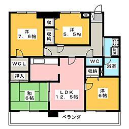 メゾンファミール[3階]の間取り