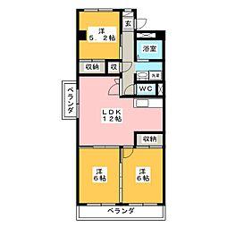 第3北村マンション[3階]の間取り