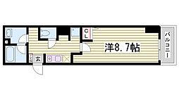 コスモコート元町[13階]の間取り