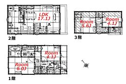 建物参考プラン:間取り/4LDK、延床面積/85.2m2、土地建物参考価格/4580万円(税込)