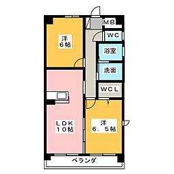 ファミーユ春日井 A棟[1階]の間取り