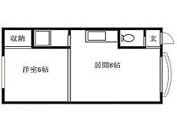 北海道札幌市豊平区旭町7丁目の賃貸アパートの間取り