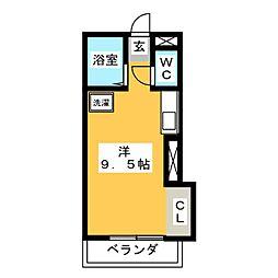 ドエル西焼津[2階]の間取り