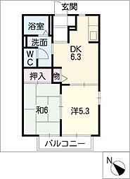ディアコートB棟[1階]の間取り