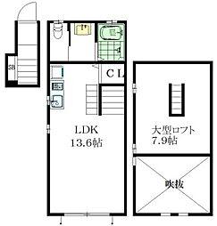 東京メトロ丸ノ内線 新大塚駅 徒歩8分の賃貸アパート 2階1LDKの間取り