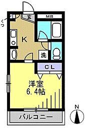 殿山リベラル[104kk号室]の間取り