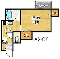 ベルカーサハヤシ[2階]の間取り