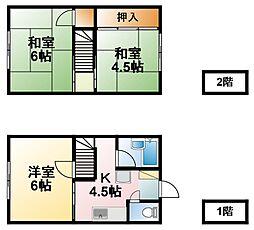 [テラスハウス] 千葉県茂原市東部台3丁目 の賃貸【/】の間取り