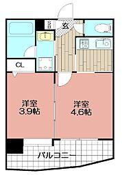 アクタス天神セントラルタワー(703)[703号室]の間取り