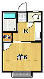 茨城県日立市西成沢町3丁目の賃貸アパートの間取り