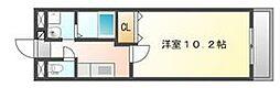 高松琴平電気鉄道志度線 古高松駅 徒歩3分の賃貸マンション 1階1Kの間取り