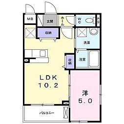 南清和園町アパート[0201号室]の間取り