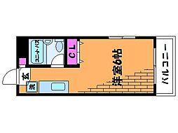 東京都調布市入間町1丁目の賃貸マンションの間取り