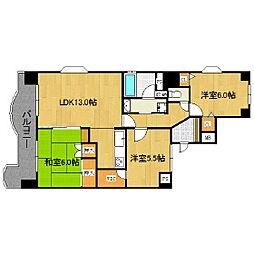 ライオンズマンション日吉町[10階]の間取り