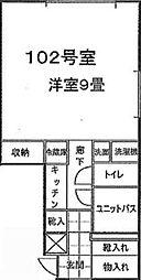 佐倉市表町ビル[102号室]の間取り
