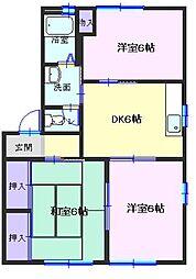 和歌山県有田市新堂の賃貸アパートの間取り