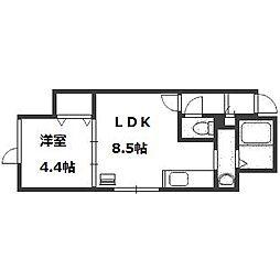 北海道札幌市厚別区厚別中央三条2丁目の賃貸アパートの間取り