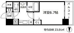 インザグレイス梅田北[6階]の間取り