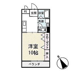 ユース稲熊 2階[202号室]の間取り