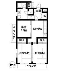 シャルマンハイツ古賀[5階]の間取り