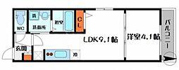 グランステージ 3階1LDKの間取り