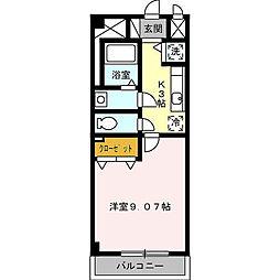 プレストンズ新栄[5階]の間取り