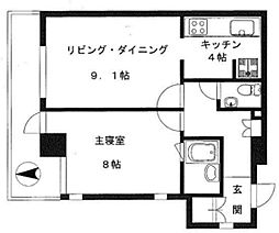 仙台坂オークヒルズ[7階]の間取り