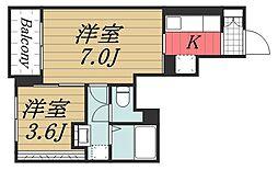 JR総武線 千葉駅 徒歩20分の賃貸アパート 1階1Kの間取り