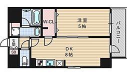 エステムコート北堀江[5階]の間取り