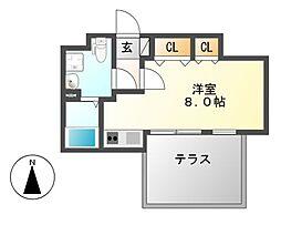 Branche桜山Chambre(ブランシェサクラヤマシャンブル)[4階]の間取り