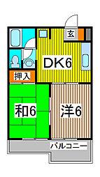 ロキシーモンシャトー[2階]の間取り