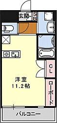 アクアプレイス京都西陣[203号室号室]の間取り