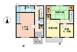 [テラスハウス] 愛知県名古屋市西区上名古屋1丁目 の賃貸【/】の間取り