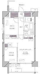 JR山手線 田町駅 徒歩11分の賃貸マンション 6階2LDKの間取り