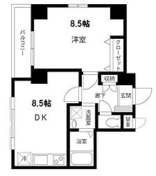 東京都中央区佃2丁目の賃貸マンションの間取り