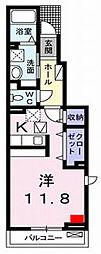愛媛県松山市西石井5丁目の賃貸アパートの間取り