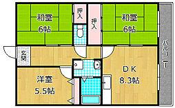 ハイコーポ京阪[3階]の間取り