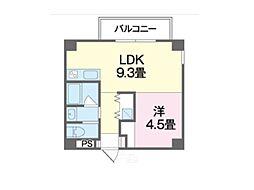 沖縄都市モノレール 小禄駅 徒歩10分の賃貸マンション 5階1LDKの間取り