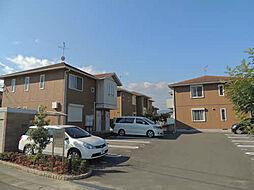 福岡県筑紫野市大字常松の賃貸アパートの外観